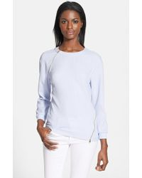 Ted Baker 'Abony' Zip Textured Knit Sweater - Lyst