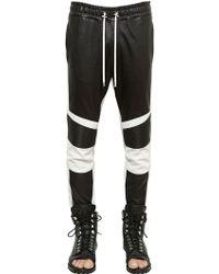 Balmain Biker Style Nappa Leather Pants - Lyst