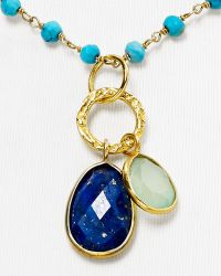 Argento Vivo Rondelle Charm Necklace 16 - Lyst