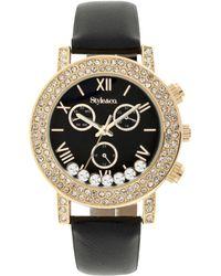 Style & Co. Women's Boyfriend Black Strap Watch 38mm Sy008gbk - Only At Macy's