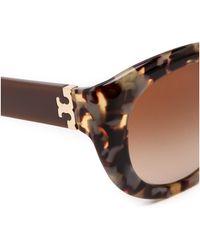Tory Burch Modern Serif Sunglasses  Porcini Tort - Lyst