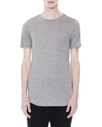 Helmut Lang Kinetic Jersey Curved Tee - Lyst