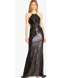 Halston | Sequin-Embellished Cut-Out Gown  | Lyst