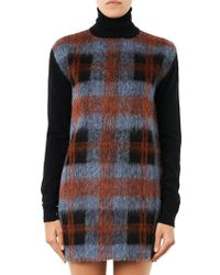 McQ by Alexander McQueen Check Wool-Blend Knitted Dress - Lyst