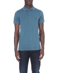 Diesel T-etienne Cotton-jersey Polo Shirt Blue - Lyst