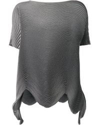 Issey Miyake Accordion Blouse - Lyst