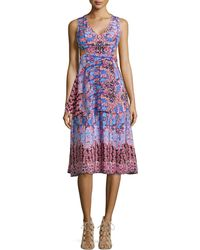Nanette Lepore Sleeveless Print Dress With Side Cutouts - Lyst
