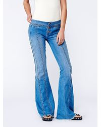 Free People Willow Seam Flare - Blue