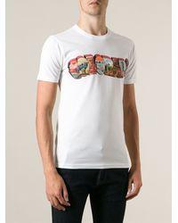 Paul Smith Multicoloured Chest Print T-shirt - Lyst