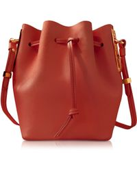 Sophie Hulme - Grapefruit Leather Small Bucket Bag - Lyst