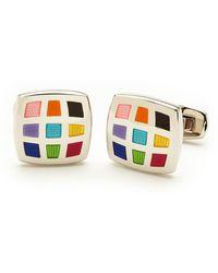 Duchamp Multicolor Square Cuff Links - Lyst