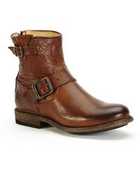 Frye | Tyler Engineer Short Leather Boots | Lyst