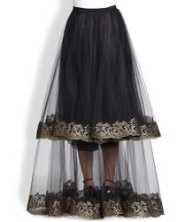 Sachin & Babi Noir Metallic-embroidered Skirt - Lyst