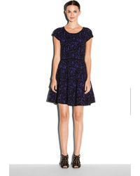 Milly Textured Lace Swing Dress - Lyst