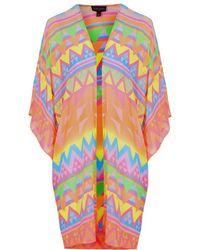 Topshop Aztec Surf Kimono - Lyst