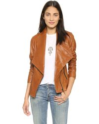 Women's Camel Leather Jackets - Shop Now | Lyst™