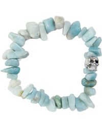 Duchess Of Malfi - Aquamarine Large Skull Bracelet - Lyst