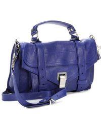Proenza Schouler Cobalt Blue Leather Ps1 Mini Convertible Satchel - Lyst