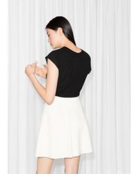 & Other Stories A-line Skirt - White