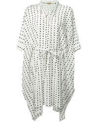 Peter Jensen Oversized Shirt Dress - Lyst