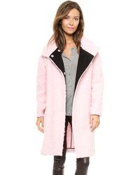 Just Cavalli Pink Coat Pale Pink - Lyst