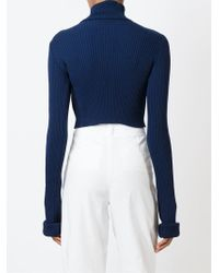 Jacquemus Cropped Sweater - Blue