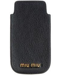 Miu Miu Leather Iphone 5 Case - Lyst