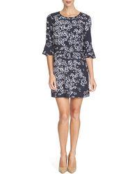 Cynthia Steffe | 3/4-sleeve Floral-print Dress | Lyst