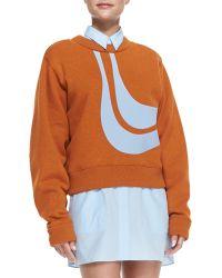 Acne Studios Abstract Bird Applique Sweatshirt - Lyst
