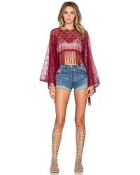 Queen & Pawn - Lace Fringed Beach Top - Lyst