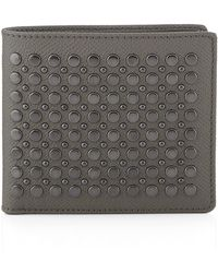 Burberry Studded Leather Folding Wallet - Lyst