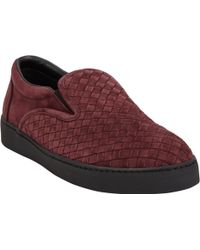 Bottega Veneta Trèfle Intrecciato Slipon Sneakers - Lyst