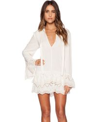 Jen's Pirate Booty X Revolve Wildflower Mini Dress white - Lyst