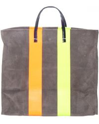 Clare V. - Grey Stripe Simple Tote - Lyst