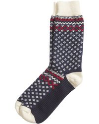 H&M Thick Jacquard-Knit Socks - Lyst