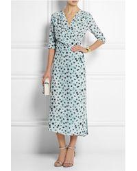 Vanessa Bruno Cima Floral-Print Silk Crepe De Chine Wrap Dress - Lyst