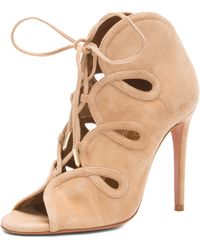 Aquazzura French Kiss Suede Heels - Lyst