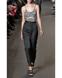 Alexander Wang Referee Triangle Cutout Top with Accordion Pleated Drape - Lyst