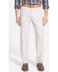 Tommy Bahama 'Baja' Five-Pocket Cotton & Linen Pants beige - Lyst