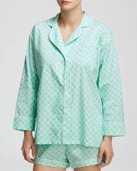 Marigot Collection Lorient Block Short Pajama Set - Blue