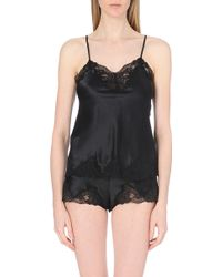 Nk Imode Silk-Satin And Lace Camisole - For Women - Lyst