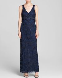 Sue Wong Gown Sleeveless Vneck - Lyst
