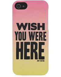 Juicy Couture - Wish You Were Here Iphone 5 Case - Lyst
