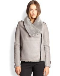 Burberry London Amesdale Shearling Jacket - Lyst