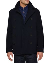 Original Penguin - Lance Melton Double Breasted Pea Coat - Lyst