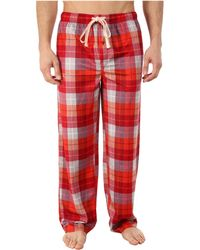 Kenneth Cole Reaction Deer Skin Fleece Sleep Pants - Red