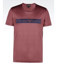 Emporio Armani Light Jersey T-Shirt With Logo Print - Lyst
