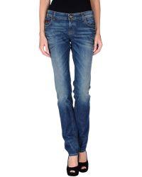 Gucci Blue Denim Trousers - Lyst