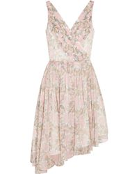 Elizabeth And James Manette Floral-Print Silk-Chiffon Mini Dress - Lyst