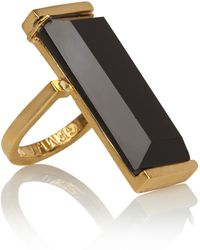 Gemma Redux - 18-Karat Gold-Plated Onyx Ring - Lyst